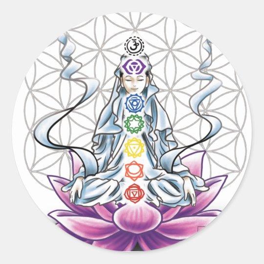 Flower of life, chakra, goddess sticker
