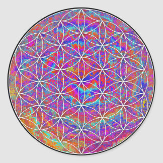Flower of Life (Color 2) Round Sticker