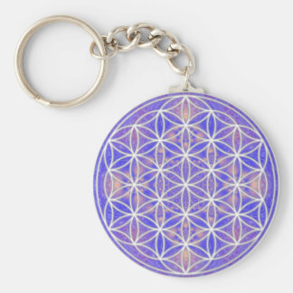 Flower of Life (Color 3) Basic Round Button Key Ring