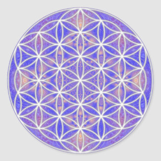 Flower of Life (Color 3) Classic Round Sticker