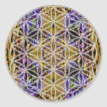 Flower of Life (Colour 2) Round Stickers