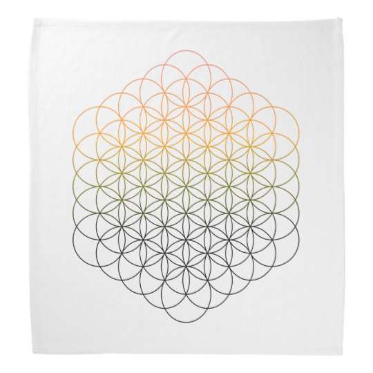 Flower Of Life Crystal Grid Cloth Bandannas