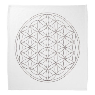 Flower Of Life Crystal Grid Cloth (V-Smoke) Bandana