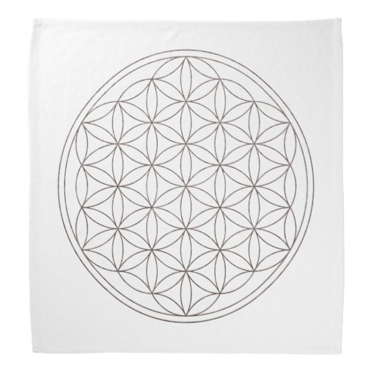 Flower Of Life Crystal Grid Cloth (V-Smoke) Bandanna
