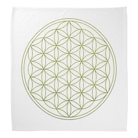 Flower Of Life Crystal Grid Cloth (V-Sprout) Bandana