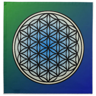 "Flower of Life Crystal Grids (set of 4) 20"" x 20"" Napkin"