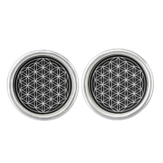 Flower of Life Cufflinks, Silver Plated Cufflinks