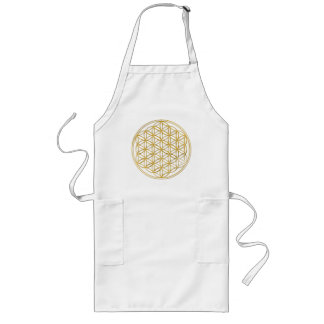 FLOWER OF LIFE - gold Long Apron