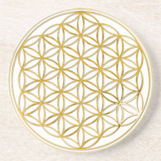 Flower Of Life gold big Beverage Coaster