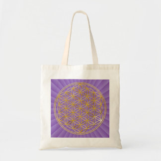 Flower OF Life | gold big/violet light BG Tote Bag
