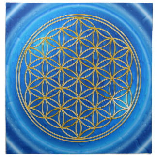 FLOWER OF LIFE - gold + energy of water Napkin