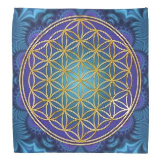 Flower Of Life - gold - fractal 1 Bandana