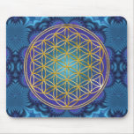 Flower Of Life - gold - fractal 1 Mouse Pad