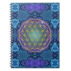 Flower Of Life - gold - fractal 1 Notebook