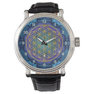 Flower Of Life - gold - fractal 1 Watch