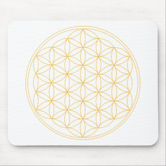 Flower of Life Gold Line Mousepads