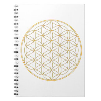 Flower of Life Gold Line Notebook