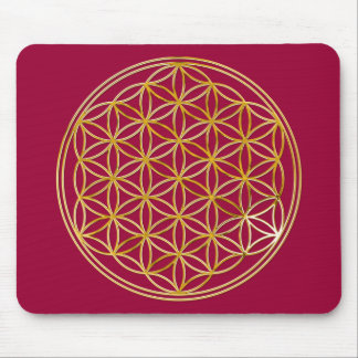 FLOWER OF LIFE - gold Mouse Pad