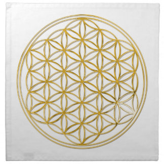 FLOWER OF LIFE - gold Napkin