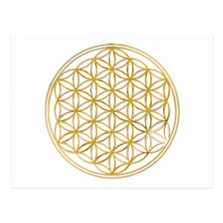 FLOWER OF LIFE - gold Postcard