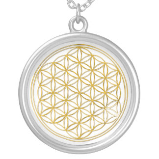 Flower Of Life | gold, small Silver Plated Necklace