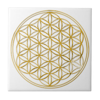 FLOWER OF LIFE - gold Tile