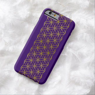 flower of life - golden border + your background barely there iPhone 6 case