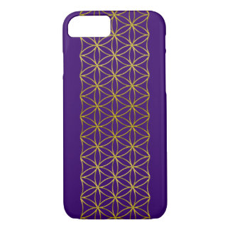 flower of life - golden border + your background iPhone 7 case