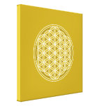 Flower of Life – Golds & White Gallery Wrap Canvas