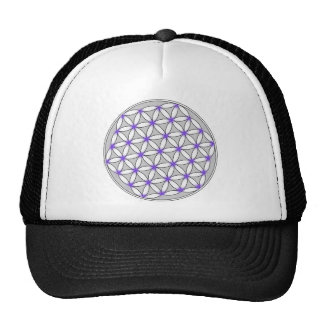 Flower of Life Gray Lilac Cap
