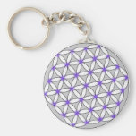 Flower of Life Gray Lilac Key Chain