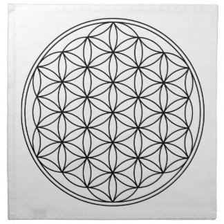 Flower of Life Grid Cloth Napkins