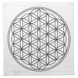 Flower of Life Grid Cloths 4 Napkins