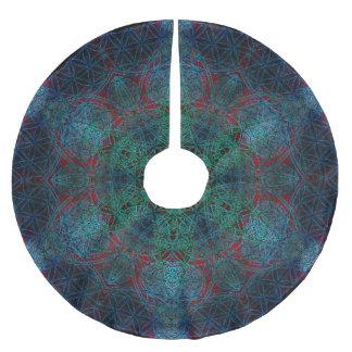 Flower of Life Hexagon Mandala Tree Skirt Brushed Polyester Tree Skirt