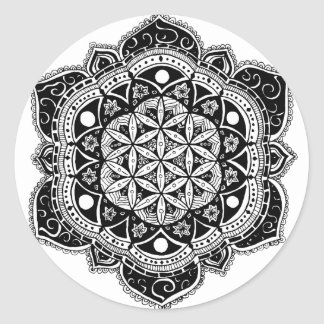 Flower of life II Classic Round Sticker