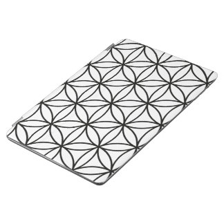 Flower of Life Large Pattern – Black on White iPad Air Cover