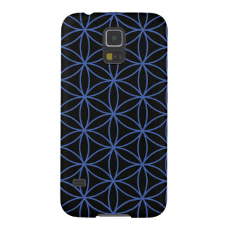 Flower of Life Large Pattern – Blue on Black Galaxy S5 Cover