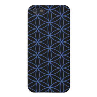 Flower of Life Large Pattern – Blue on Black iPhone 5 Cover