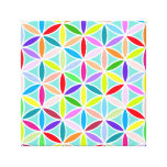 Flower of Life Large Pattern – Multicoloured Stretched Canvas Print