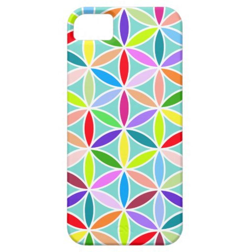 Flower of Life Large Pattern – Multicoloured Case For iPhone 5/5S
