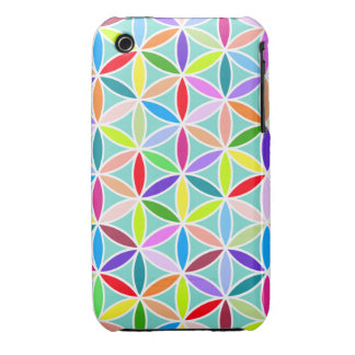 Flower of Life Large Pattern – Multicoloured iPhone 3 Cover