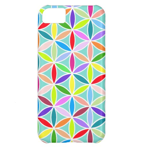 Flower of Life Large Pattern – Multicoloured iPhone 5C Cover