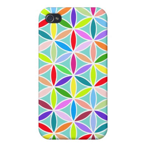 Flower of Life Large Pattern – Multicoloured iPhone 4 Cases