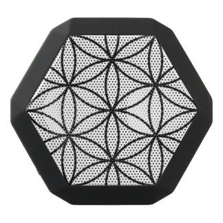 Flower of Life Large Ptn Black on White Black Bluetooth Speaker