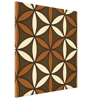 Flower of Life Large Ptn Browns & Cream Canvas Print