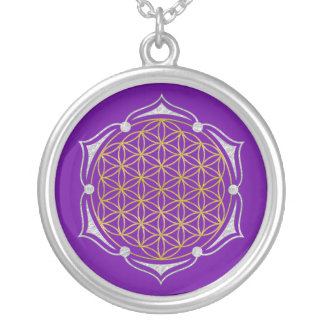 Flower Of Life - Lotus gold silver Silver Plated Necklace