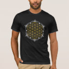 Flower Of Life - Lotus gold silver T-Shirt