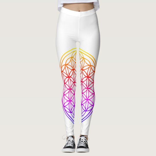 Flower of life lotus leggings