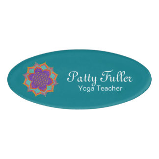Flower of Life - LOTUS ornaments gold I Name Tag