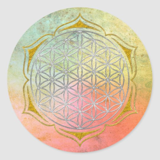 Flower Of Life - Lotus silver gold Classic